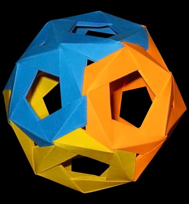 Nick Robinson's #origami spiked icosahedron (With images ... | 400x372