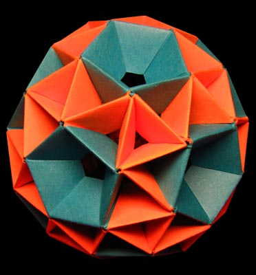 Modular Origami - spiky balls and stellated polyhedra models ... | 400x372